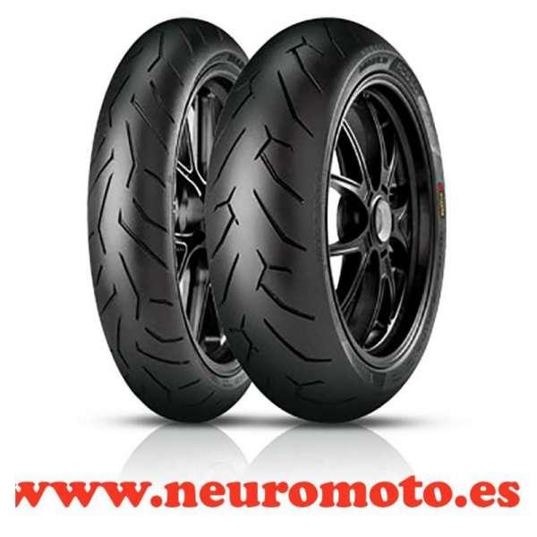 Juego Pirelli Diablo Rosso II 120/70ZR17 (58W) + 190/50ZR17 (73W)