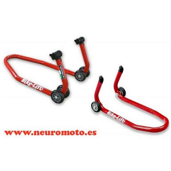 PACK Calentadores MOTO GP 120-200 + caballetes con adaptadores de goma