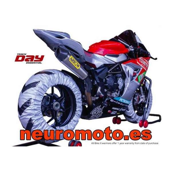 PACK CALENTADORES BIKETEK PRO + Dunlop D211 GP Racer slick 120/70ZR17 (M) NHS + 190/55ZR17 (E) NHS