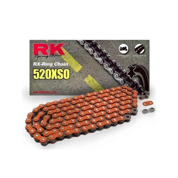 CADENA ABIERTA CON ENGANCHE REMACHE RK X-RING 520