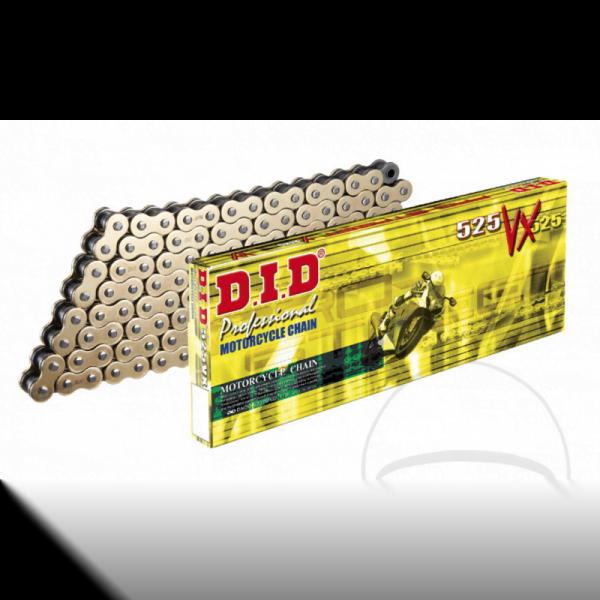 DID X-Ring G&B 525VX/116 Cadena abierta con enganche remache