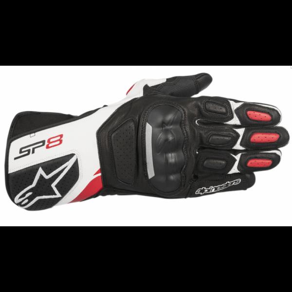GUANTES ALPINESTARS SP-8 V2 BLACK / WHITE / RED