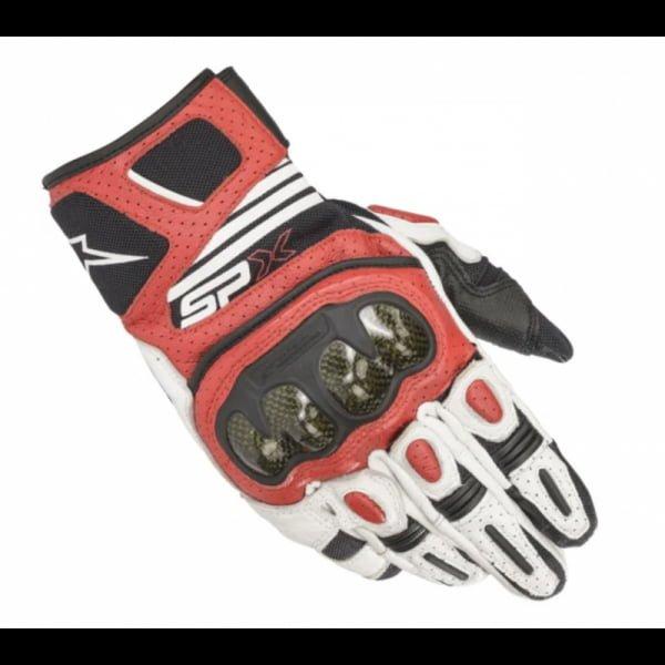 GUANTES ALPINESTARS SP X AIR CARBON V2 WHITE / BLACK / BRIGHT RED