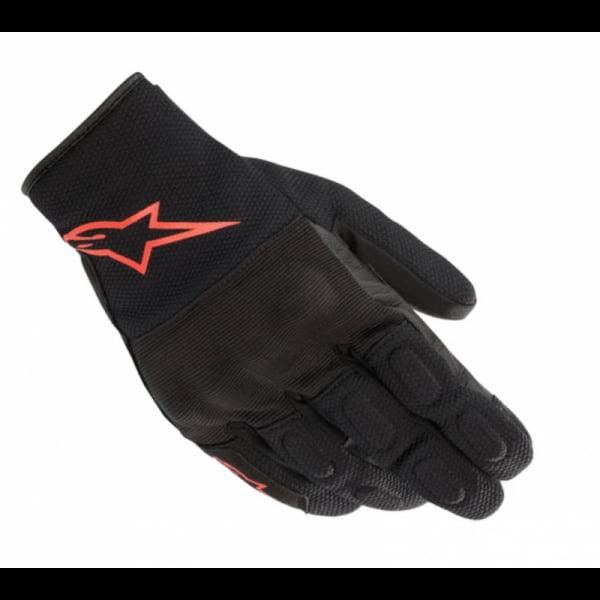 GUANTES ALPINESTARS S MAX DRYSTAR BLACK / RED FLUO