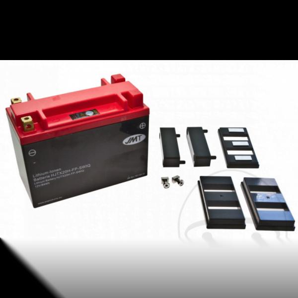 Batería moto HJTX20H-FP Litio-ion con pantalla Impermeable