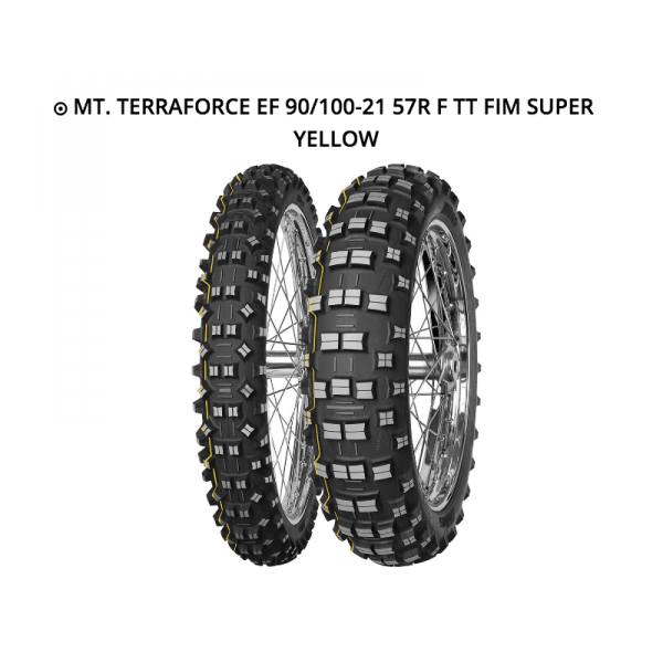 MITAS TERRA FORCE EF 90/100-21 57R TT FIM SUPER YELLOW