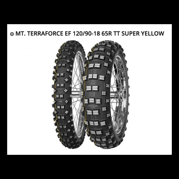 MITAS TERRA FORCE EF 120/90-18 65R TT SUPER YELLOW