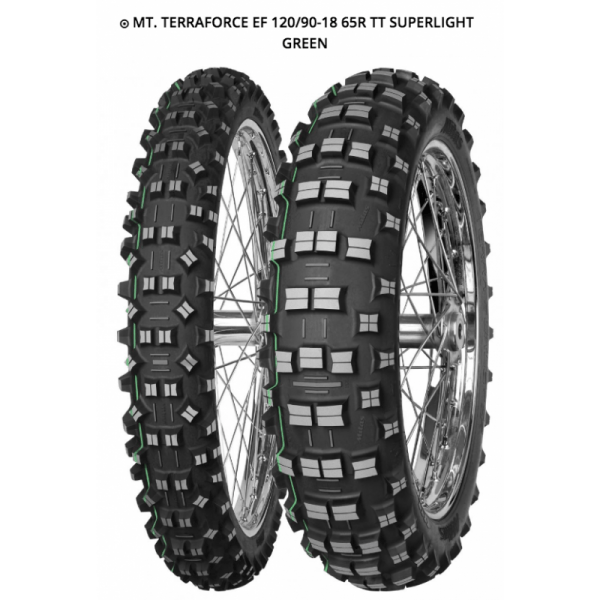 MITAS TERRA FORCE EF 120/90-18 65R TT SUPERLIGHT GREEN